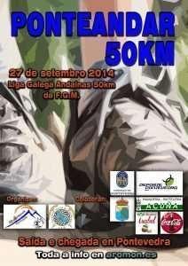 cartel PonteANDAR 50 km