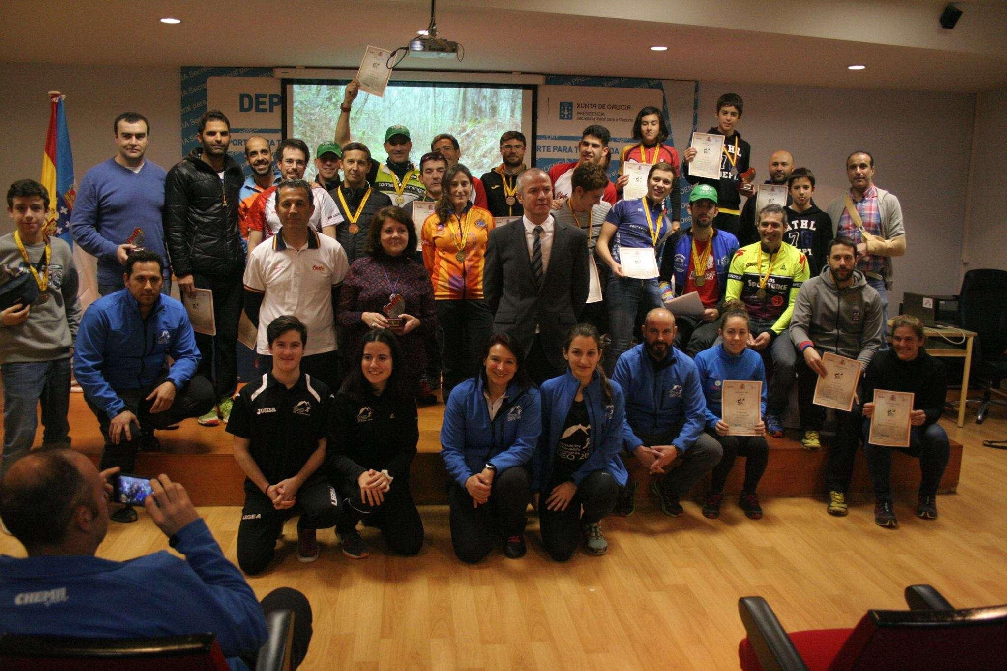 Fotos entrega de premios liga MTBO 2016